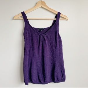 Eileen Fisher Cotton Silk Knit Tank Top S Small